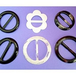 Accessories - 6 T-Shirt Scarf Slides Rings Buckles Clips, Retro!